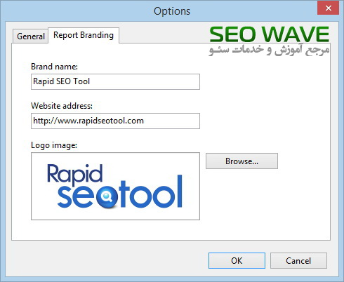 بررسی و کار با نرم افزار Rapid Seo Tool-Report branding