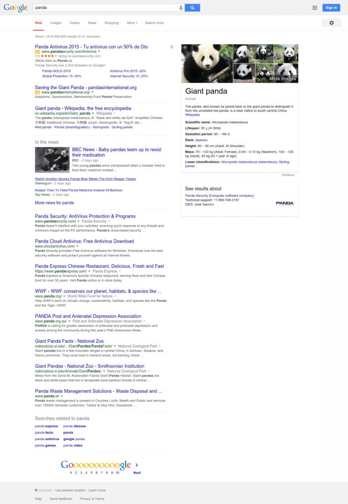 Panda-query-semantic searh