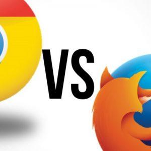 مرورگر فایرفاکس در رقابت با مرورگر کروم