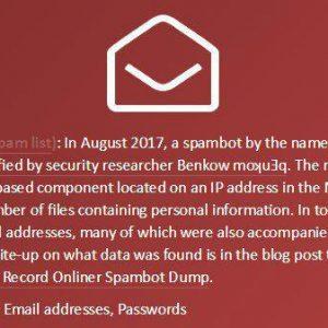 نشر پسورد ایمیلها با ۷۱۱میلیون حساب توسط اسپمرها